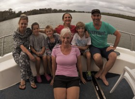 Family time on the houseboat