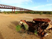 Algebuckina Bridge with 1948 FJ Holden
